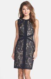 ML Monique Lhuillier Lace Sheath Dress