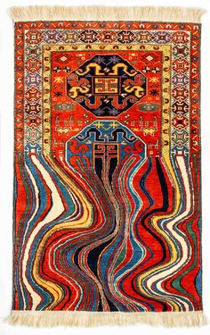 Contemporary handwoven rug, conceptual artist Faig Ahmed, Baku, Azerbaijan.