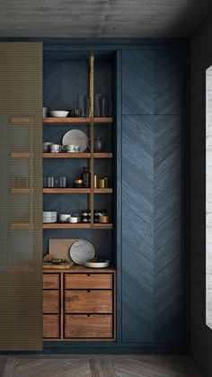 Kitchen Furniture, Kitchen Interior, Furniture Design, Pantry Design, Cabinet Design, Küchen Design, House Design, Shelving Design, Modern Kitchen Design