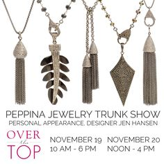 Peppina trunk show at Over the Top in Highland Park, Illinois!