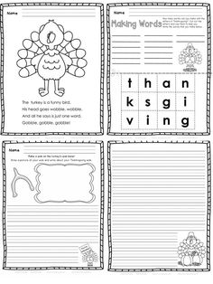 FREE no prep Thanksgiving printables from First Grade Focus blog.  Thanks!