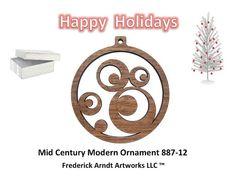 88712 Mid Century Modern Ornament by FredArndtArtworks on Etsy, $14.95