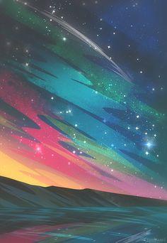 Wallpaper Animes, City Wallpaper, Wallpaper Backgrounds, Iphone Wallpaper, Calming Backgrounds, Fantasy Landscape, Landscape Art, Fantasy Art, Wow Art