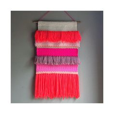 Woven wall hanging Tapestry Wall hanging Weaving Fiber por jujujust