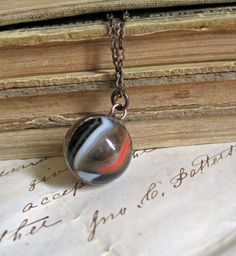 Bold Prediction Vintage Marble Necklace by ThatOldBlueHouse2 on Etsy