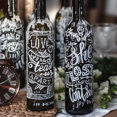 Awesome wine bottle typography  by @lettering_pt! #Designspiration - View this on https://www.instagram.com/Designspiration/