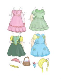 DAISY and LILY Easter Paper Dolls by Melissa Smith/MissMissy 5 of 5