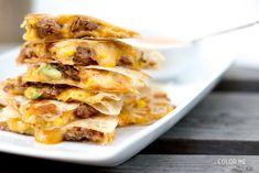 sweet pork quesadillas & spicy ranch