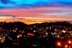 Baguio City night skyline Night Skyline, Baguio City, 2d Art, Night Light, Sweet Home, Lights, Explore, Sunset, World