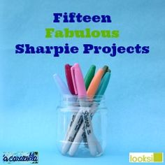 15 cool projects you can do with Sharpies.