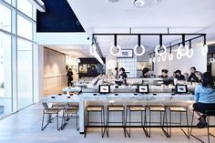 Tetsujin Japanese restaurant in Melbourne by Architects EAT in collaboration with Principle Design embraces the concept of order and chaos. Architecture Restaurant, Interior Architecture, Cafe Bar, Cafe Shop, Commercial Interior Design, Commercial Interiors, Sushi Bar Design, Japanese Restaurant Design, Cafe Design
