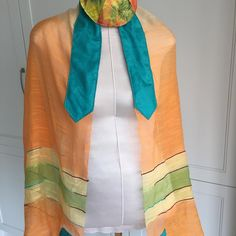 Light and colourful tallit and kippah Tallit, Prayer Shawl, Shawls, Exotic, Kimono Top, Sewing, Crafts, Color, Etsy