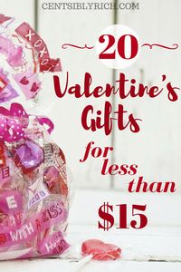 Gift ideas that won't break the bank! Find the perfect Valentine's gift for under $15!