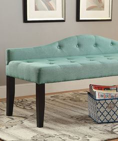 Take a look at this Blue Footboard Bench today!