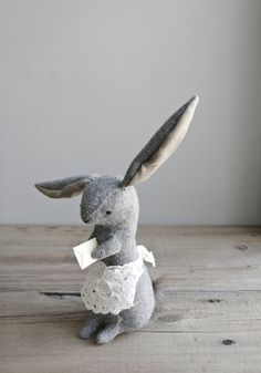 a rabbit with a letter to deliver. $78.00, via Etsy.
