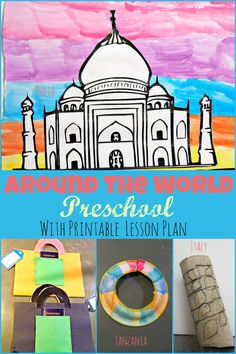 Around the world preschool week theme with free printable two day lesson plan