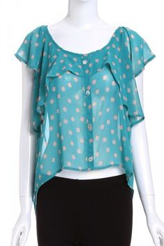SOLE MIO  FLARE BUTTON FRONT TOP. $22.00. Sale Ends Monday, April 16th at Midnight PT.