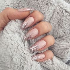 In search for some nail designs and some ideas for your nails? Listed here is our listing of must-try coffin acrylic nails for modern women. Blush Nails, Glitter Nails, Shellac Nails, Nails Inc, Nail Swag, Best Acrylic Nails, Acrylic Nail Designs, Hot Nails, Hair And Nails