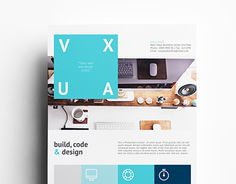 """Check out new work on my @Behance portfolio: """"Vuxa - Corporate Flyer Templates"""" http://on.be.net/1gydUFw"""