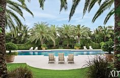 Traditional Pool by David Easton Inc. and Addison Mizner in Palm Beach, FL