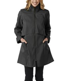 Take a look at this Jet Black Tacoma Raincoat by Janska on #zulily today!