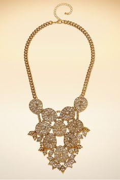 Crystal bib necklace. #BostonProper #Jewelry