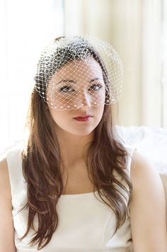 Wedding birdcage veil bridal bird cage veil  by JoyandFelicity, $55.00