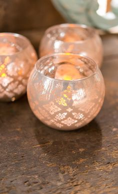 It's all about the little details like these gorgeous lace print votive holders - no dressing up required!