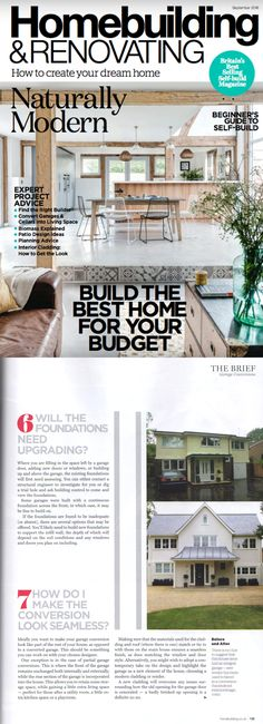 The Tring Project featured in Homebuilding and Renovating September 2018 - Converting your garage and how to make it look seamless