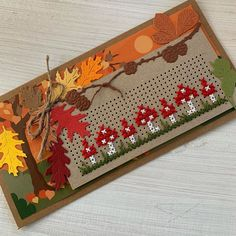 Stitching On Paper, Cross Stitch Cards, Marianne Design, Christmas Cross, Sewing Hacks, Halloween, Autumn, Card Crafts, Cards