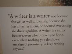 A writer.