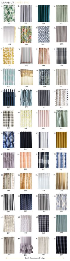Budget Friendly Drapes Under $100 Roundup Drapery Sheer Curtains Solid Emily Henderson $100