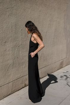 9b7f4d3a4a4f black jumpsuit for rehearsal dinner look Rehearsal Dinner Looks
