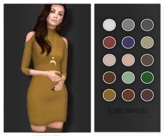 "volatile-sims: ""  Prune Dress Full New Mesh, 15 swatches (HQ MOD compatible) DOWNLOAD HERE  Thanks to @carlinvauses for testing! You are such a nice person  """