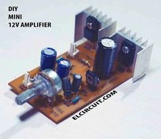 Mini power amplifier with a power output that is not big enough, and this power amplifier can be supplied with voltage up to asymmetric. Electronics Mini Projects, Power Electronics, Electronic Circuit Projects, Electronic Kits, Electronics Basics, Hobby Electronics, Electronic Engineering, Arduino Projects, Amplificador 12v