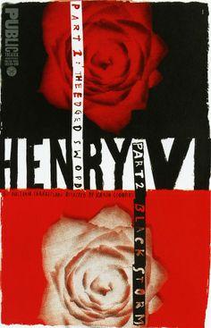 """""""Henry VI"""" Poster  Pentagram, New York, New York, 1996"""