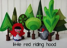 Felt FAIRY TALE TREES for Matchbox Cottage Sets by LindyJDesign