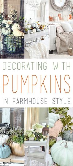 Decorating with Pumpkins in Farmhouse Style - The Cottage Market