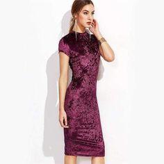 Gorgeous Velvet Pencil Dress | Dresses Outfits | #dresses #outfitideas