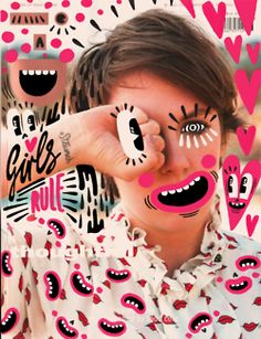 Fun Magazine Cover Doodle Art by Ana Strumpf & Hattie Stewart Photography Illustration, Photo Illustration, Graphic Design Illustration, Tableaux Vivants, Instalation Art, Draw On Photos, Photoshop, Graphic Design Posters, Graphic Art