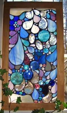 rain drops stained glass window (1/28/2014) Art: Stained