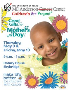 Mother's Day may have snuck up on you – it's Sunday, May 12 – but you still have time to come through. Drop by the Children's Art Project Mother's Day sale:  Thursday, May 9, and Friday, May 10 9 a.m. – 4 p.m. Main Building – Rotary House Skybridge  You can pick up one of the new single Mother's Day cards created by our young patients and browse for a gift, too. Choose from the latest selection of stationery, domino necklaces, phone covers, scarves, tote bags and more.