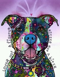 """Lover not a fighter, kisser not a biter""- This is so true. People judge them based off how their owner may have raised them. You obviously need to go find one who was raised humanely. Any person or animal can be raised to be mean SO don't take it out on these beautiful pitbulls. Love them"