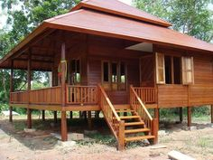 Photos Of Beautiful Wooden House Structure Design Modern Wooden House, Wooden House Design, Bamboo House Design, Wooden Houses, Style At Home, House Structure Design, Bahay Kubo Design, Exterior Design, Interior And Exterior