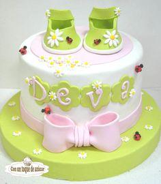 Baby shower cake - Cake by Con un toque de azúcar - Georgi