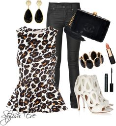 """""""Leopard Night Out"""" by stylisheve ❤ liked on Polyvore"""