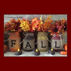 🍂Country Clutter's Fall Mason Jars 🍂 Don't forget to order yours!!!