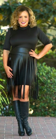The Tina Fringe Dress - Black - Perfectly Priscilla Boutique
