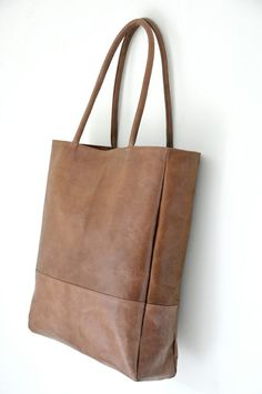 INGENUE. Leather tote bag / simple leather bag / large by BaliELF