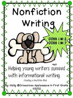 Common Core Aligned Nonfiction Writing for first grade